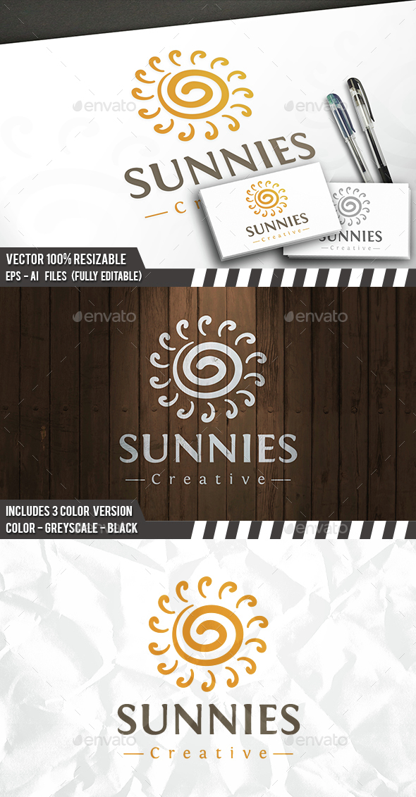 Sun Creative Logo - Vector Abstract