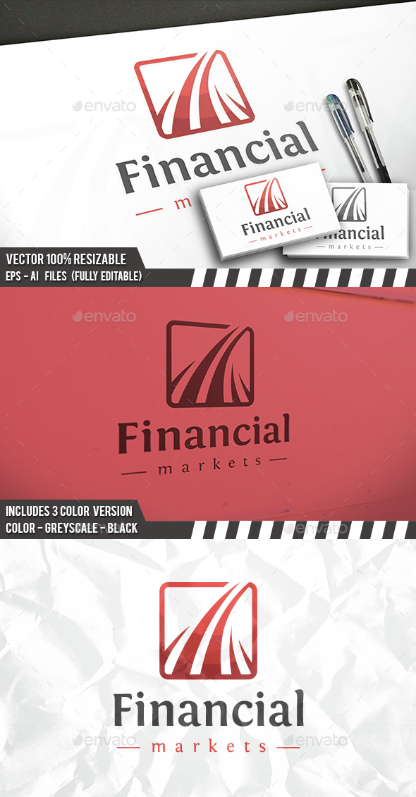 Financial Square Logo - Symbols Logo Templates