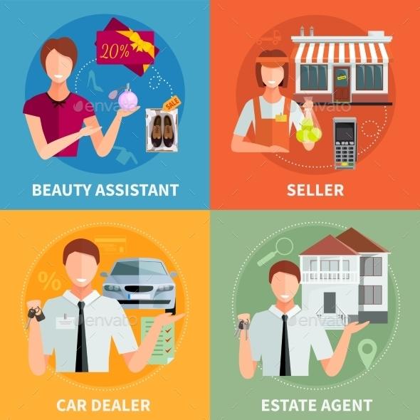 Salesman 2X2 Design Concept - Commercial / Shopping Conceptual