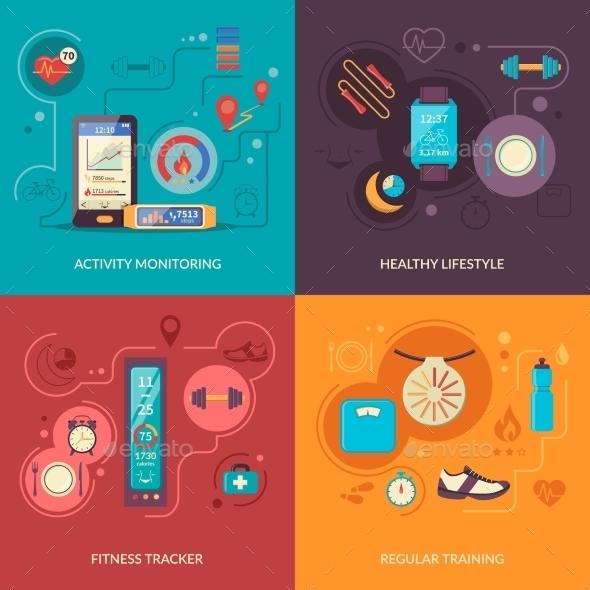 Fitness Tracker 2X2 Design Concept - Health/Medicine Conceptual