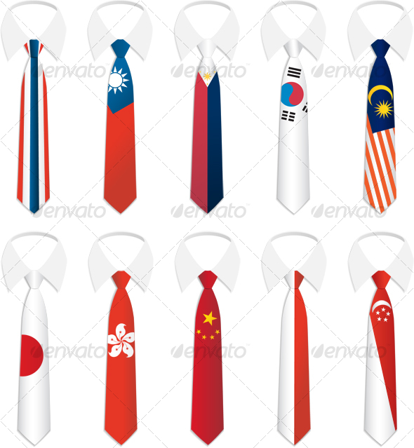 Nationality Tie 3 - Objects Illustrations