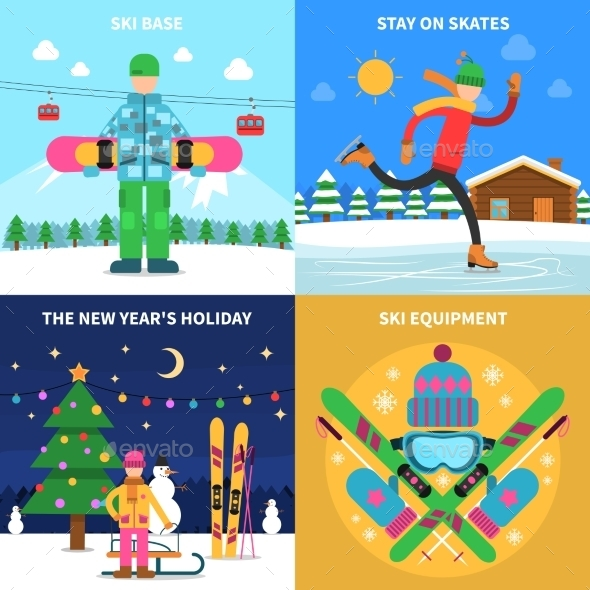 Winter Sport Concept - Travel Conceptual