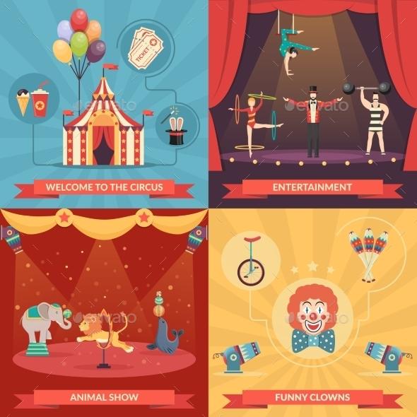 Circus Show 2X2 Design Concept   - Concepts Business