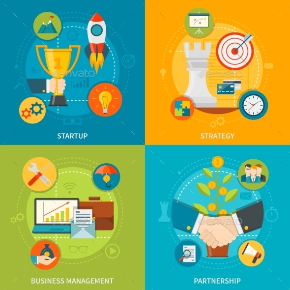 Entrepreneurship 2X2 Design Concept - Concepts Business