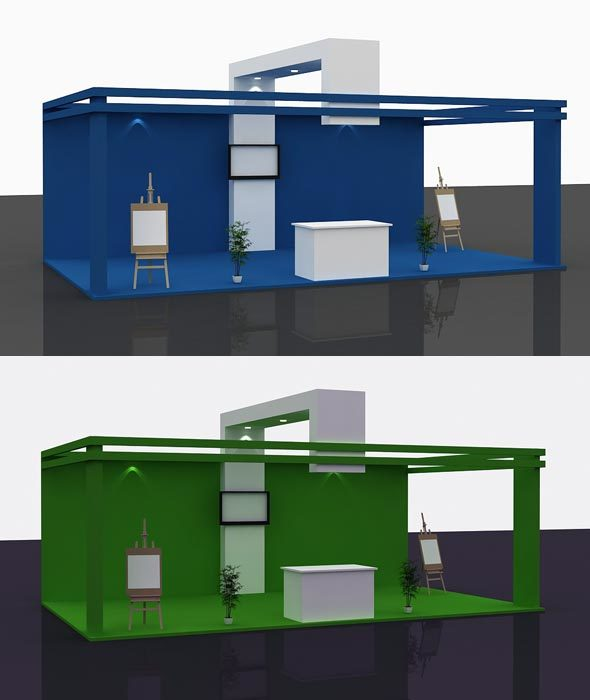 Stall Design 3d Model 3 - 3DOcean Item for Sale