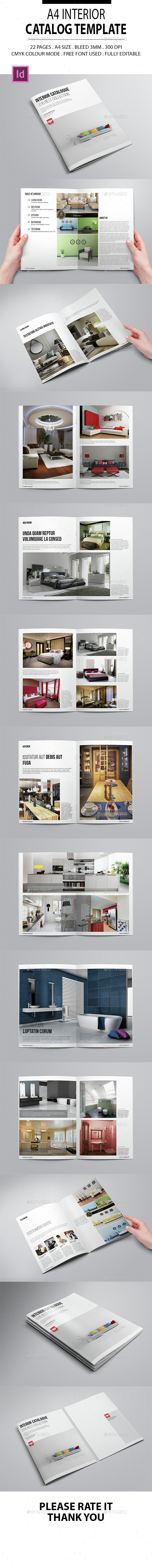 A4 Interior Catalog Template - Catalogs Brochures