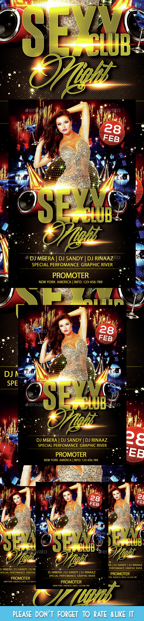 Sexy Club Night Party Flyer - Flyers Print Templates