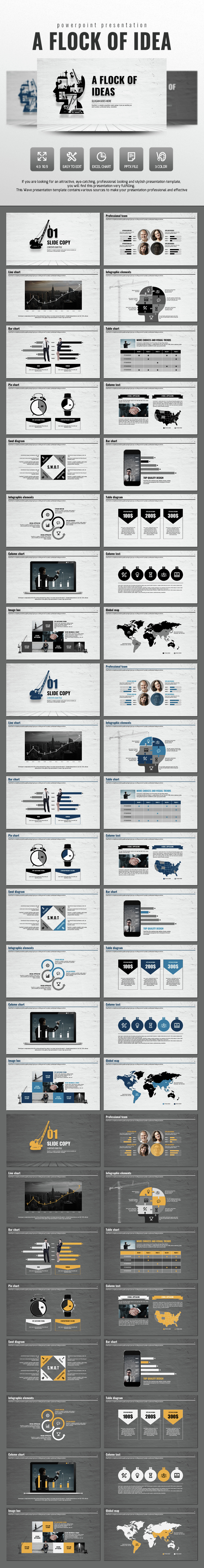 A Flock of Ideas - Business PowerPoint Templates