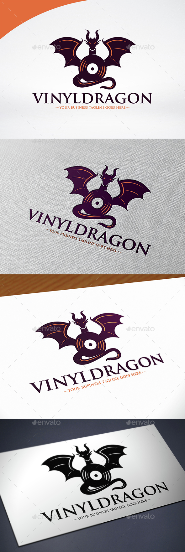 Dragon Music Logo Template - Crests Logo Templates