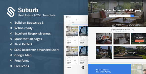 Suburb – Real Estate HTML Template