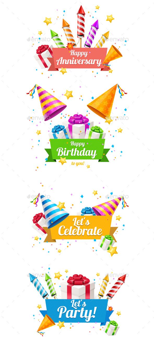 Party Card, Flyer or Placard. Vector - Birthdays Seasons/Holidays