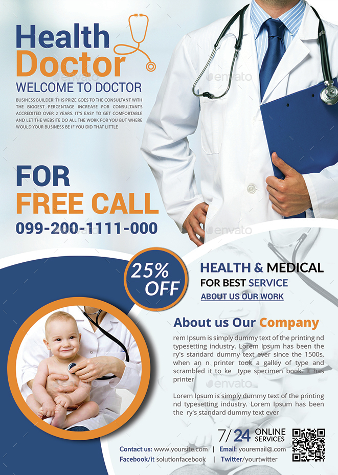 health  u0026 medical doctors flyer template by afjamaal