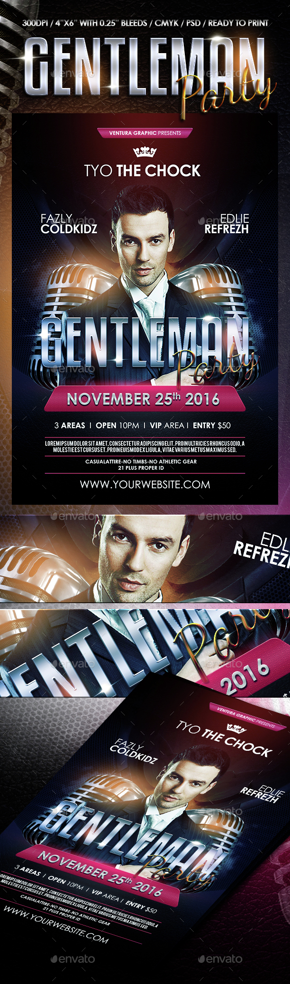 Gentleman Party Flyer - Clubs & Parties Events