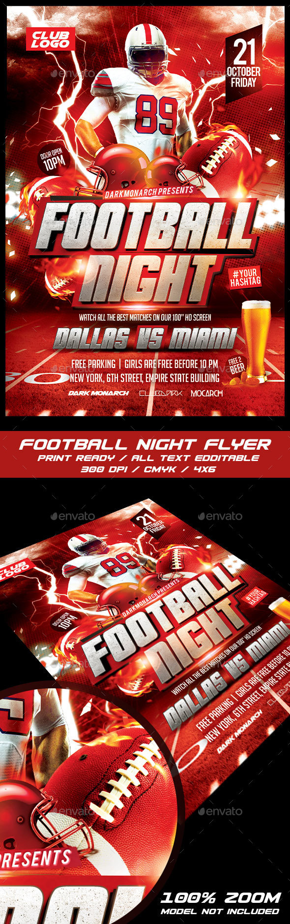 Football Night Flyer - Sports Events