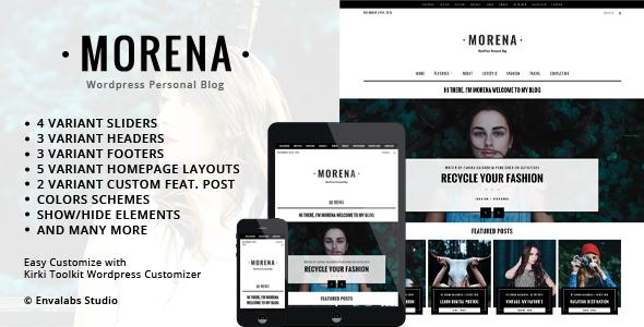 Morena - Clean Responsive WP Blog Theme