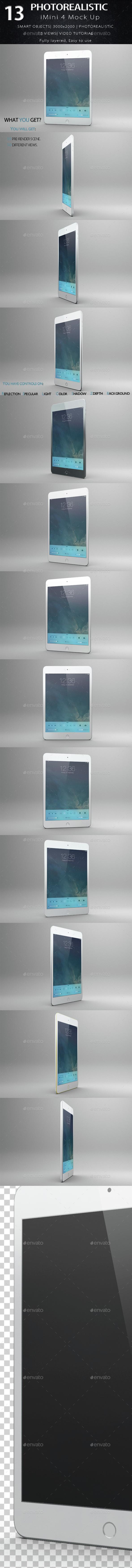 iMini 4 Mock Up 14 Views - Mobile Displays