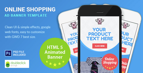 Shopping | HTML5 Google Banner Ad 7 - CodeCanyon Item for Sale