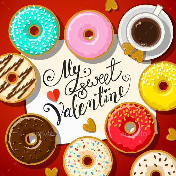 Different Sweet Donuts - Valentines Seasons/Holidays