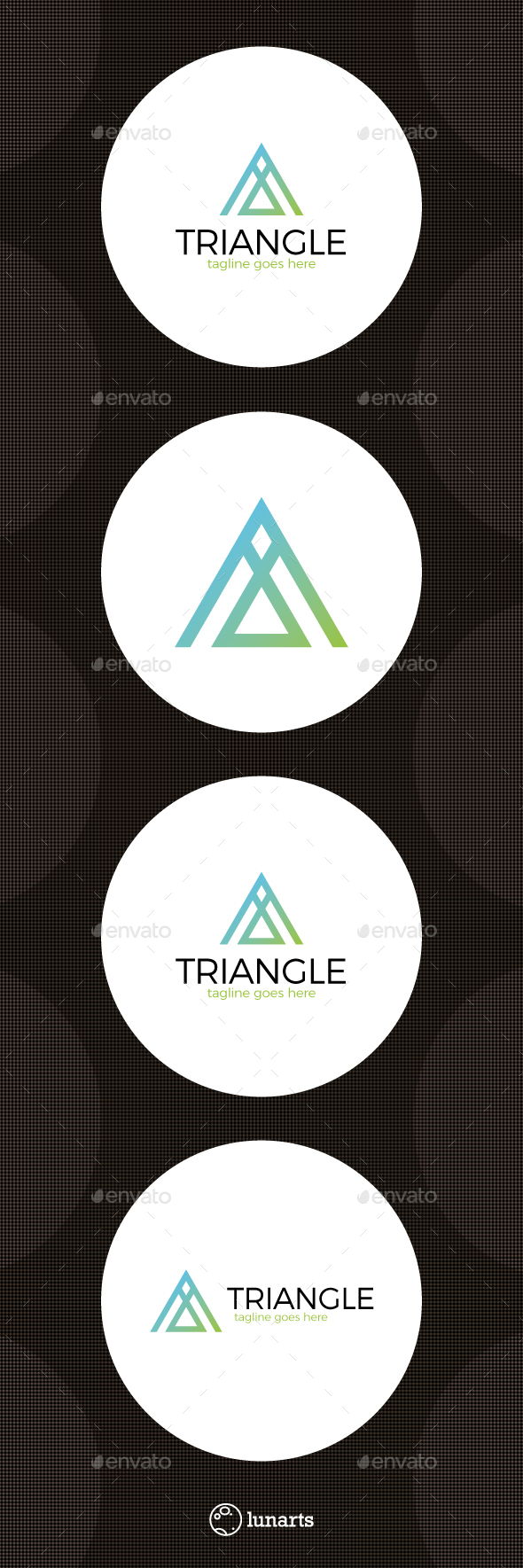 Triangle Letter A Logo - Letters Logo Templates