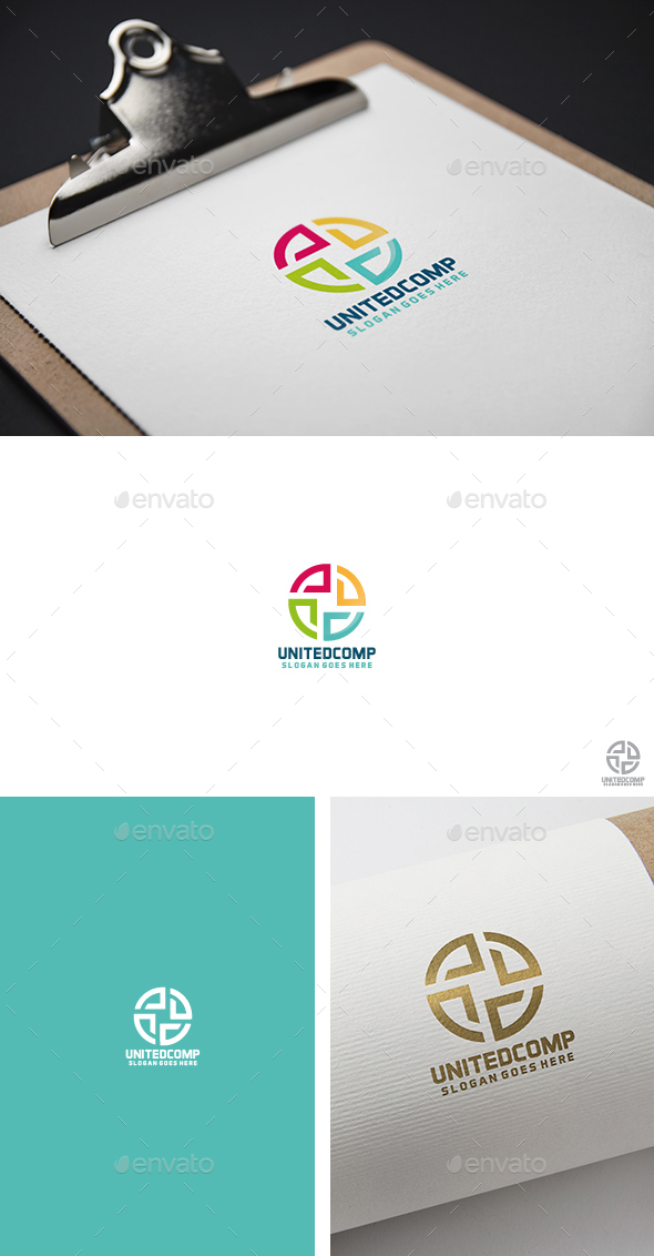 United Colorful Logo - Abstract Logo Templates