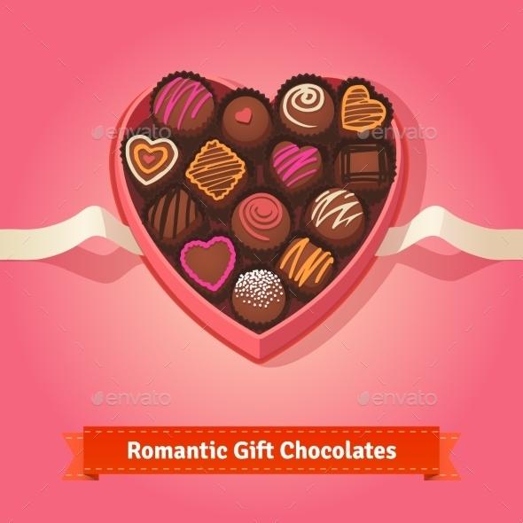Valentine's Day, Birthday Chocolates In Box - Valentines Seasons/Holidays