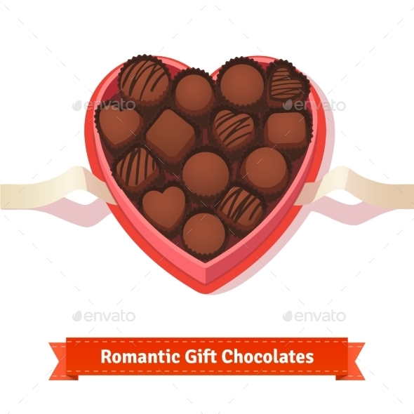 Valentine's Day, Birthday Dark Chocolates In Box - Valentines Seasons/Holidays