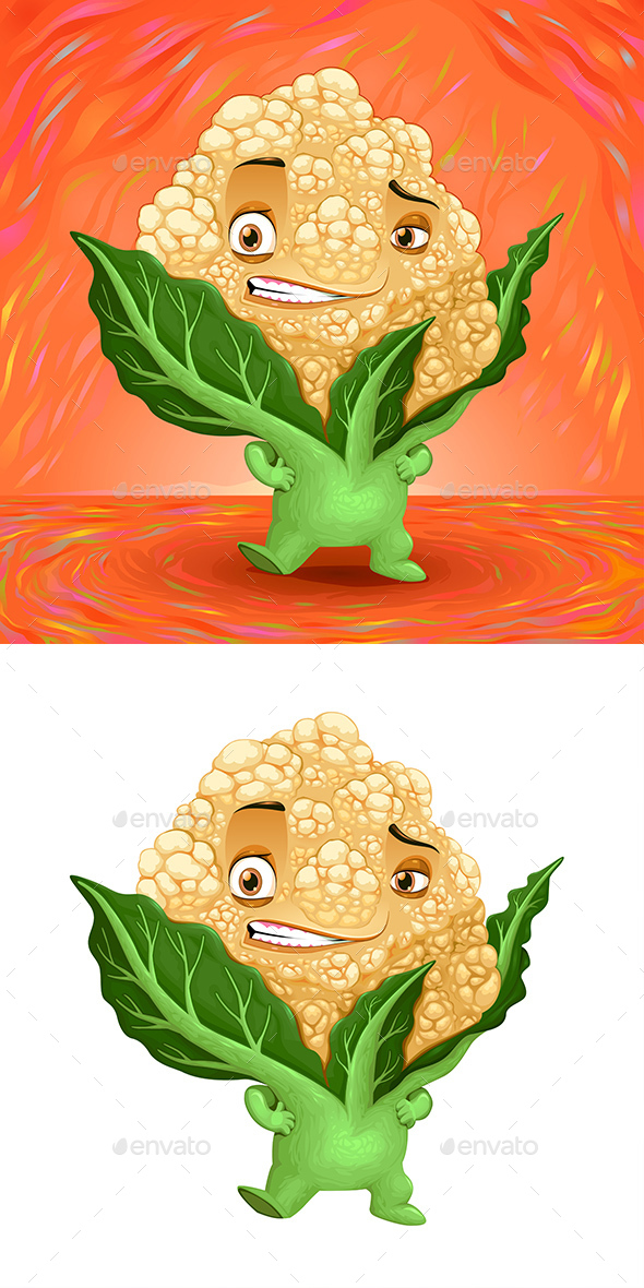 Hello My Name is Cauliflower - Food Objects