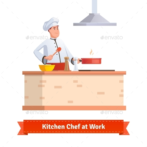 Chef Cooking Food - Food Objects