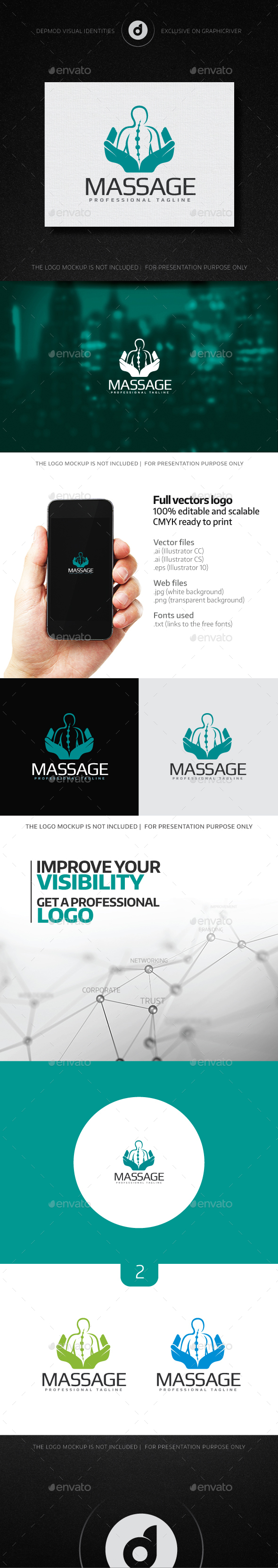 Massage Logo - Humans Logo Templates