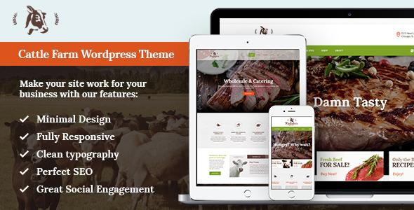 Cattle Farm & Produce Market WP Theme - Food Retail