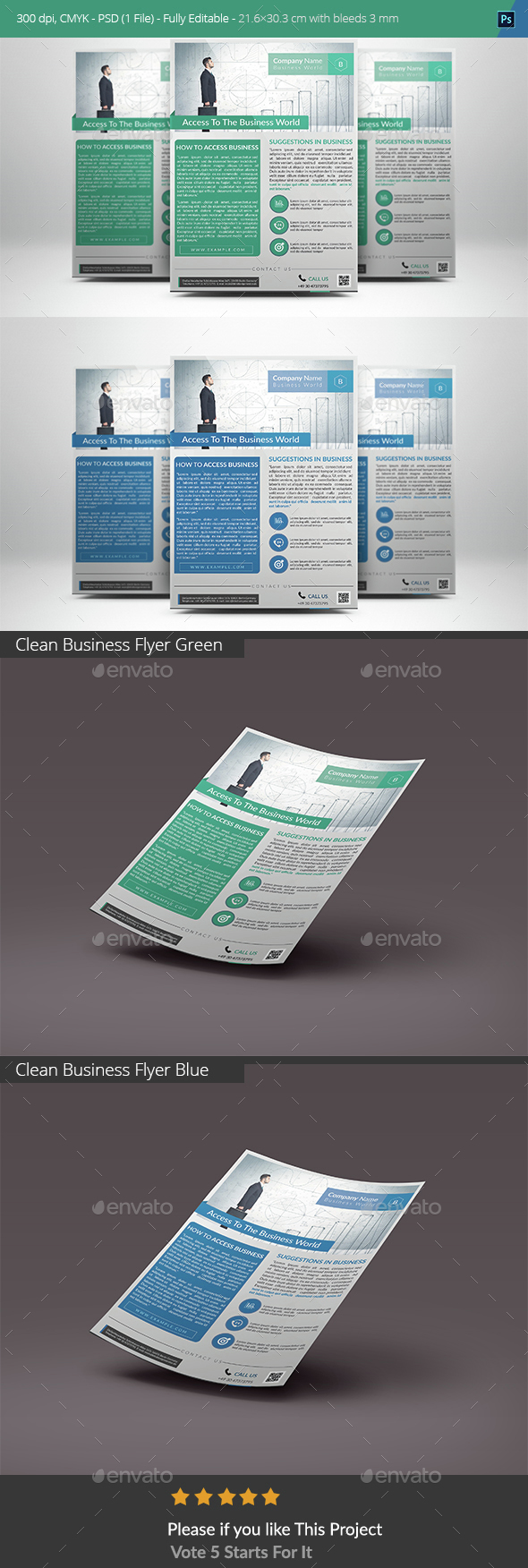 Clean Business Flyer  - Corporate Flyers
