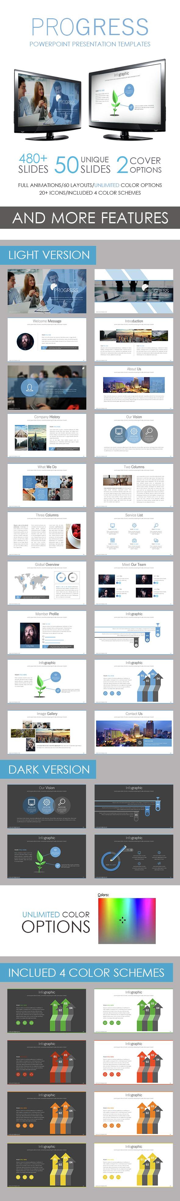 Progress PowerPoint Template - Business PowerPoint Templates