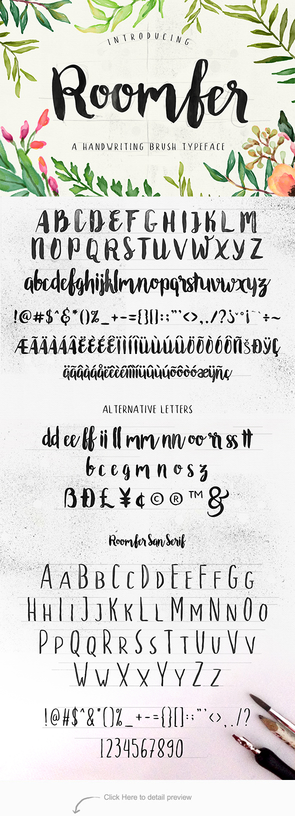 Roomfer font  - Hand-writing Script