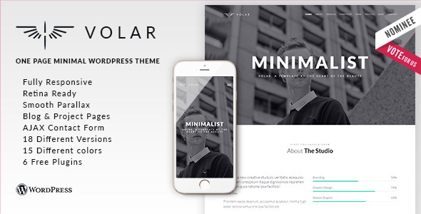 Volar – Responsive & Multipurpose WordPress Theme