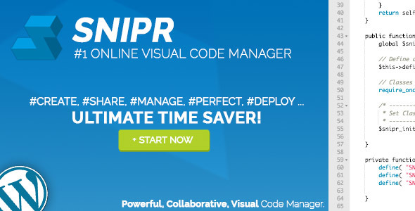 SNIPR - Visual Code Manager for Wordpress - CodeCanyon Item for Sale