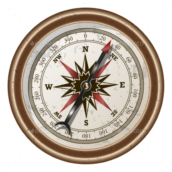 Compass Vector Illustration - Travel Conceptual