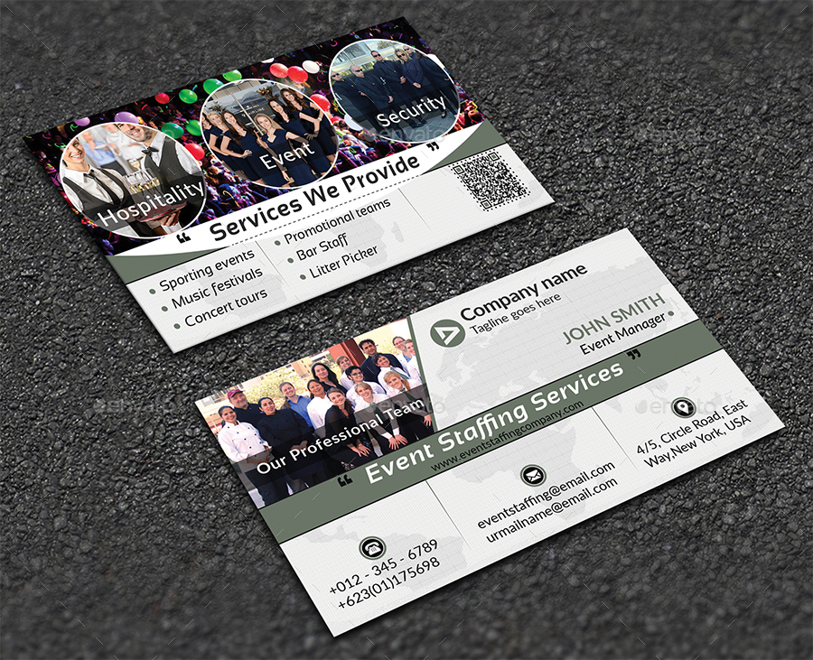 Event staffing business card by ancientego graphicriver event staffing business card colourmoves