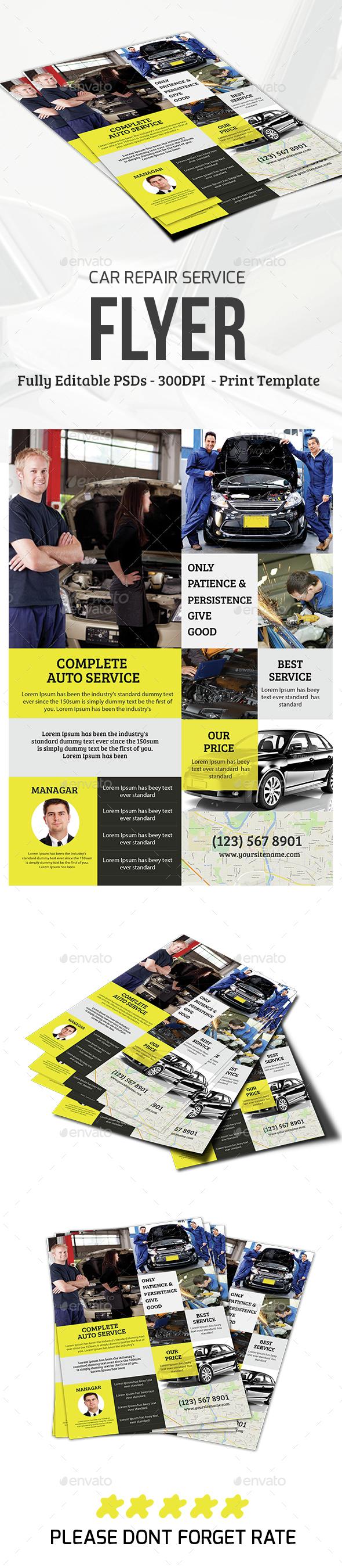 Car Repair Service Flyer - Commerce Flyers