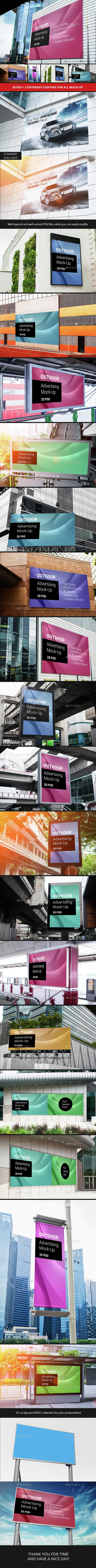 Billboard Outdoor Advertising Mock-Up - Print Product Mock-Ups