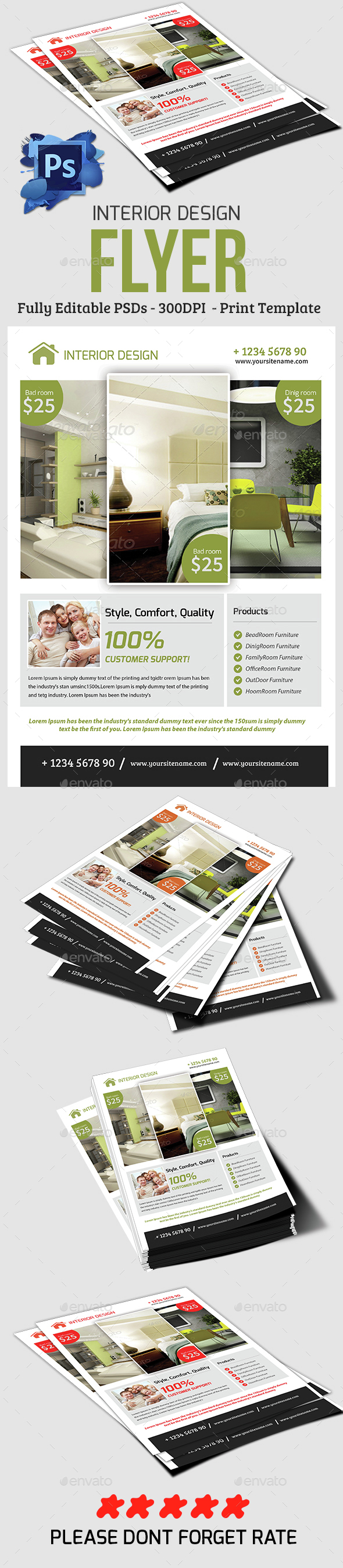 Interior Design Flyer - Commerce Flyers