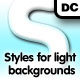 Styles for light background - GraphicRiver Item for Sale