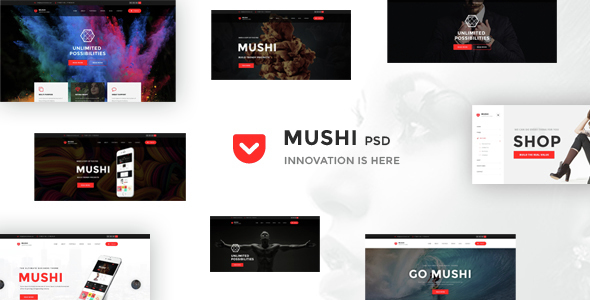 Mushi – Creative Multipurpose PSD Template