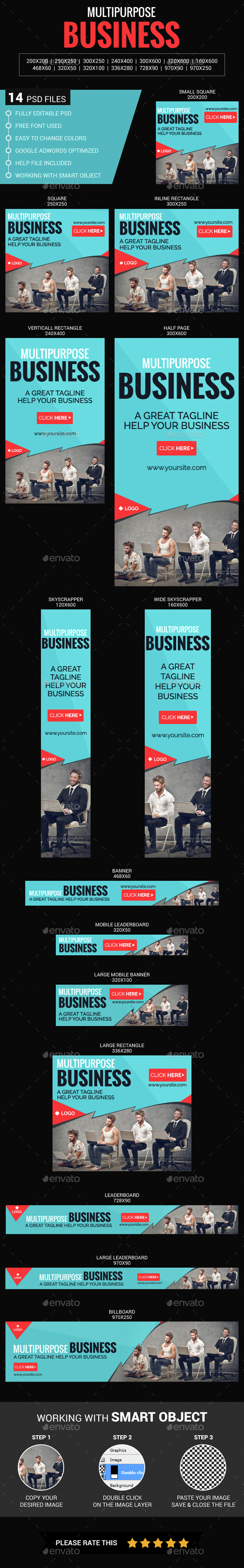 Multipurpose Business - Banners & Ads Web Elements