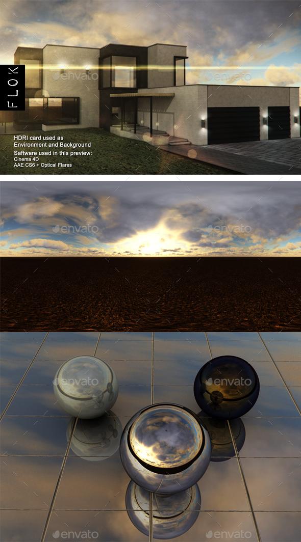 Dusk Desert 13 - 3DOcean Item for Sale