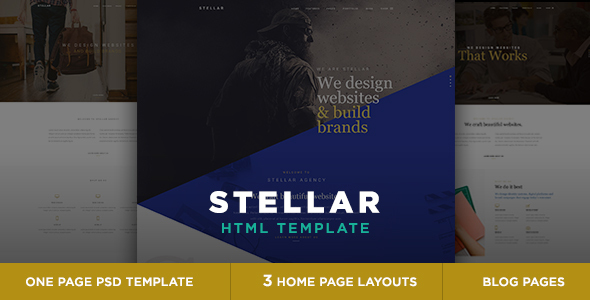 Stellar - One page multipurpose html template - Creative Site Templates