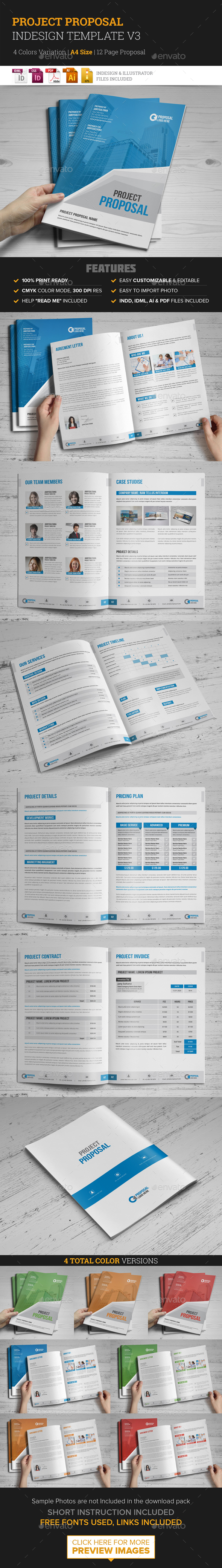 Project Proposal InDesign Template v3  - Proposals & Invoices Stationery