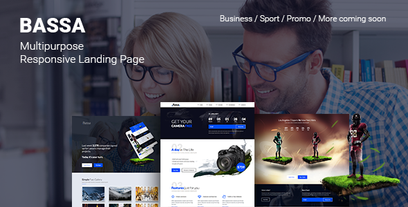 Bassa –  Responsive Sport, Business & Promo Landing Page