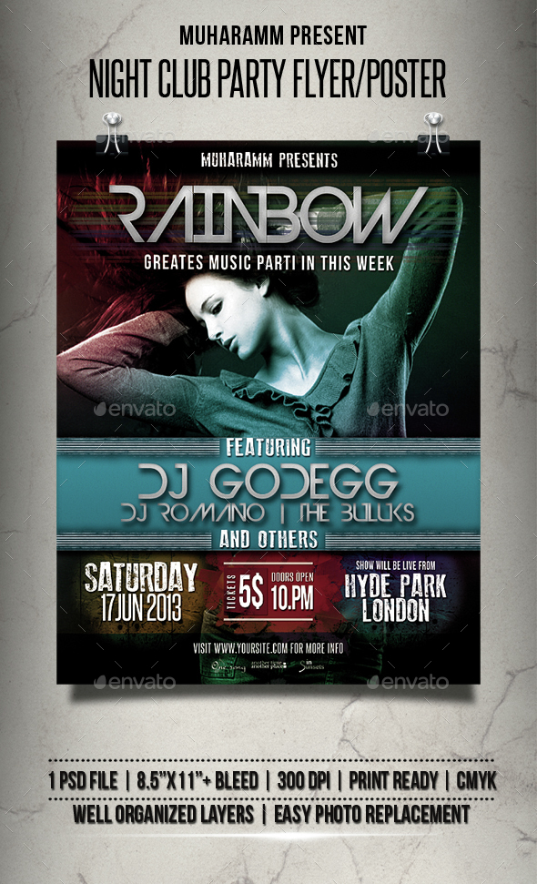 Night Club Party Flyer / Poster - Clubs & Parties Events