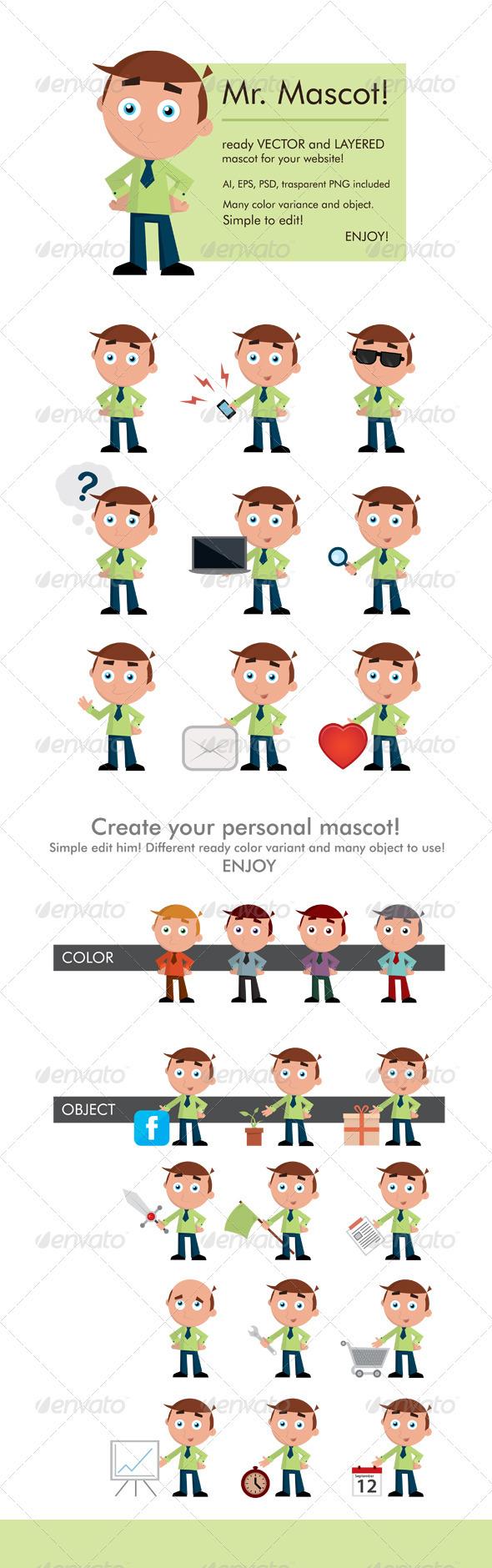Mr. Mascot - Characters Vectors