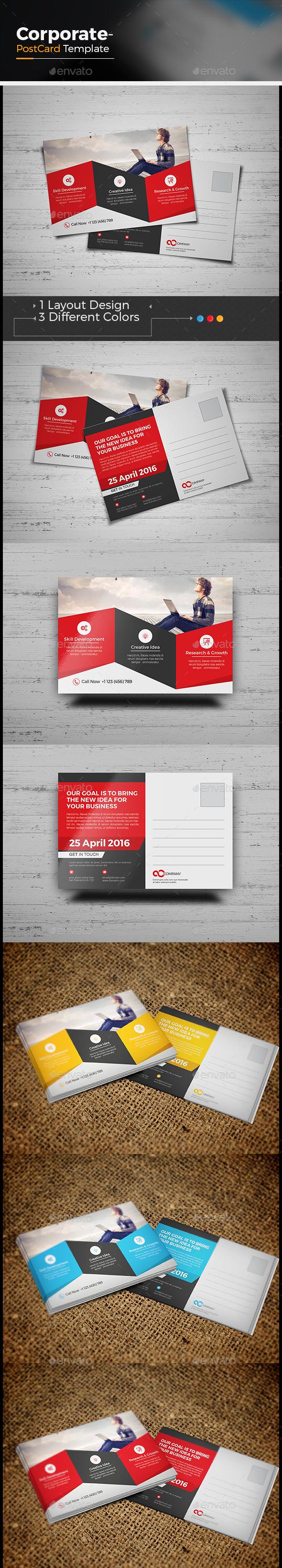 Corporate Postcard - Cards & Invites Print Templates